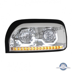 United Pacific 31203 Chrome Freightliner Century Projection Headlight - Driver Side