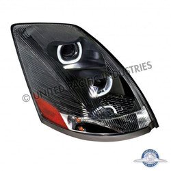 United Pacific 31269 Black Volvo VN / VNL 2004+ Projection Headlight - Passenger Side
