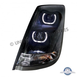 United Pacific 31268 Black Volvo VN / VNL 2004+ Projection Headlight - Driver Side