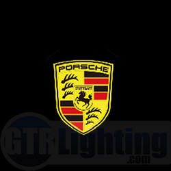 GTR Lighting LED Logo Projectors, Porsche Logo, #11