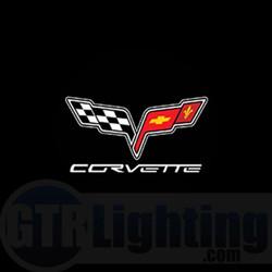GTR Lighting LED Logo Projectors, Corvette Logo, #26