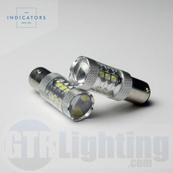 "GTR Lighting 16-LED High Power CREE (""80W"") 1156 LED Bulbs"