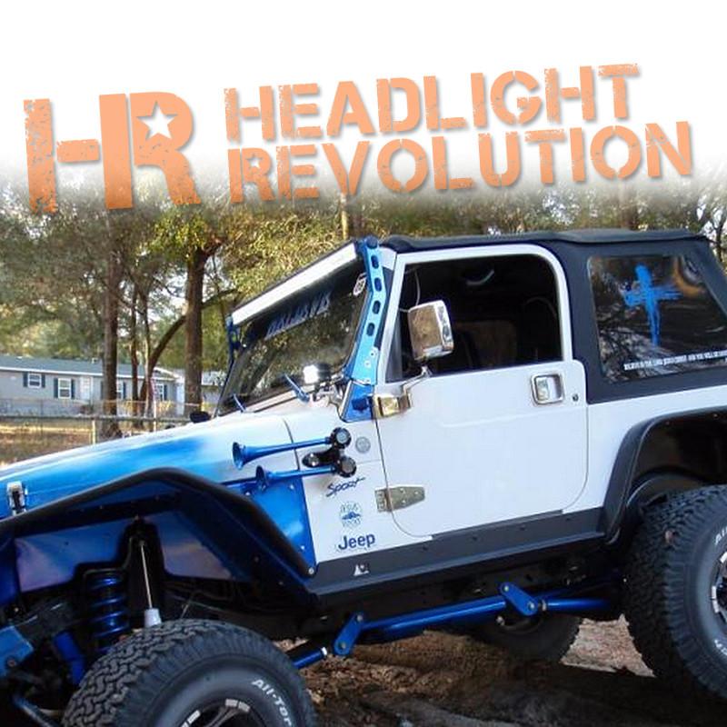 N fab 97 06 jeep wrangler tj jk windshield mounted light bar n fab aloadofball Image collections