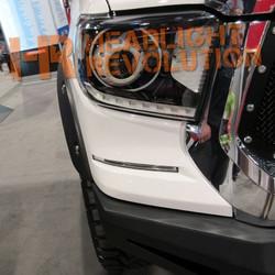 Rostra 2014-17 Toyota Tundra LED Daytime Running Lights DRL Super White Bezels