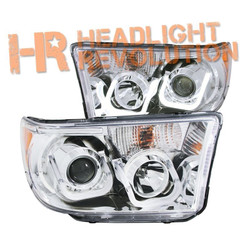 Anzo Toyota Tundra 07-13 and Sequoia 08-16 Chrome Projector Headlights with U-Bar