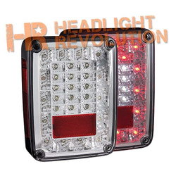 Anzo Jeep Wrangler JK 07-16 LED Tail Lights - Chrome Housing