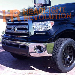 Rostra 2007-2013 Toyota Tundra premium DRL system with SILVER bezels