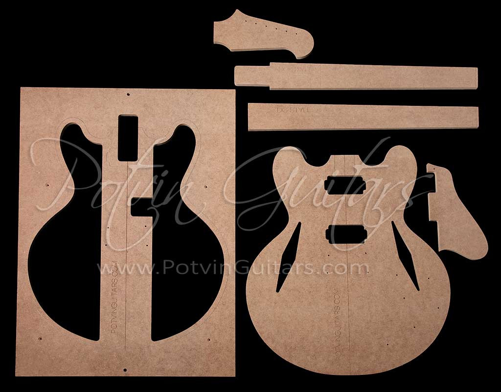 guitar f hole template - 335 dg style archtop template set potvin guitars