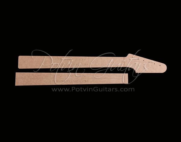 guitar f hole template - conversion neck template potvin guitars