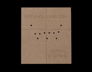 Gotoh 12 String Bridge Drilling Template