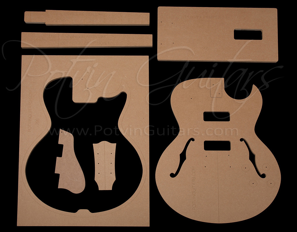 guitar f hole template - 295 style archtop template set potvin guitars