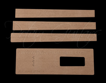 Set neck template kit 22 & 24 frets