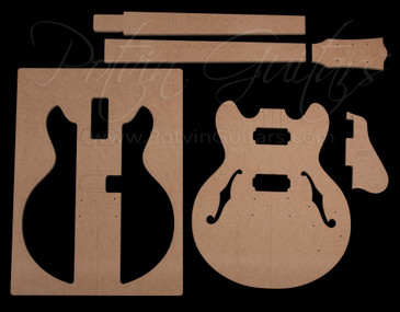 339-Style archtop guitar template set