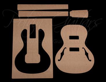 Parlor Electric guitar template set