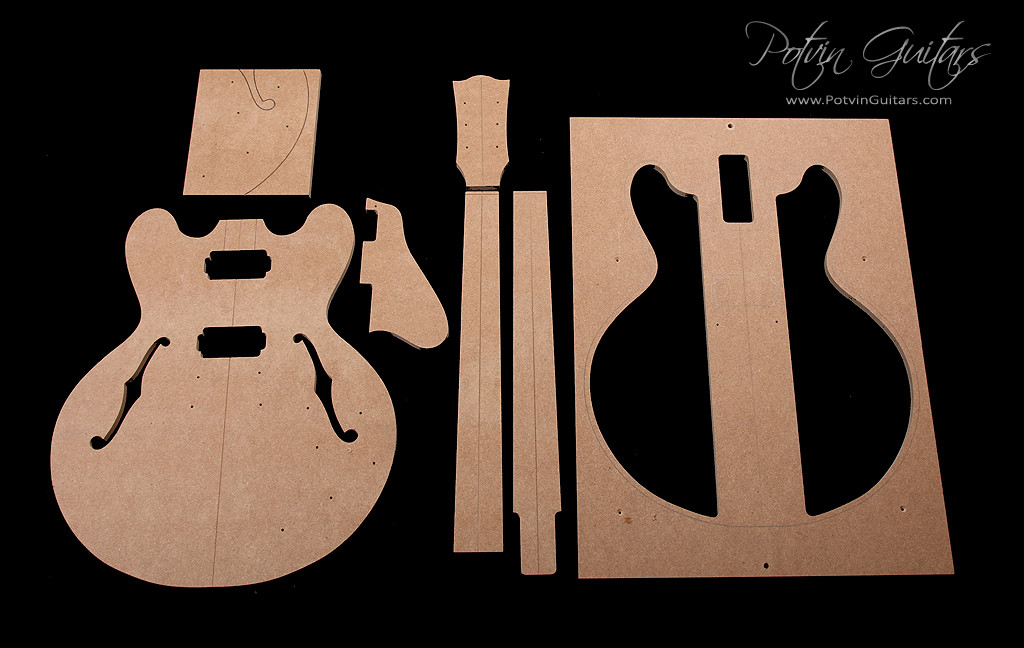 335 style archtop template set potvin guitars for Guitar f hole template