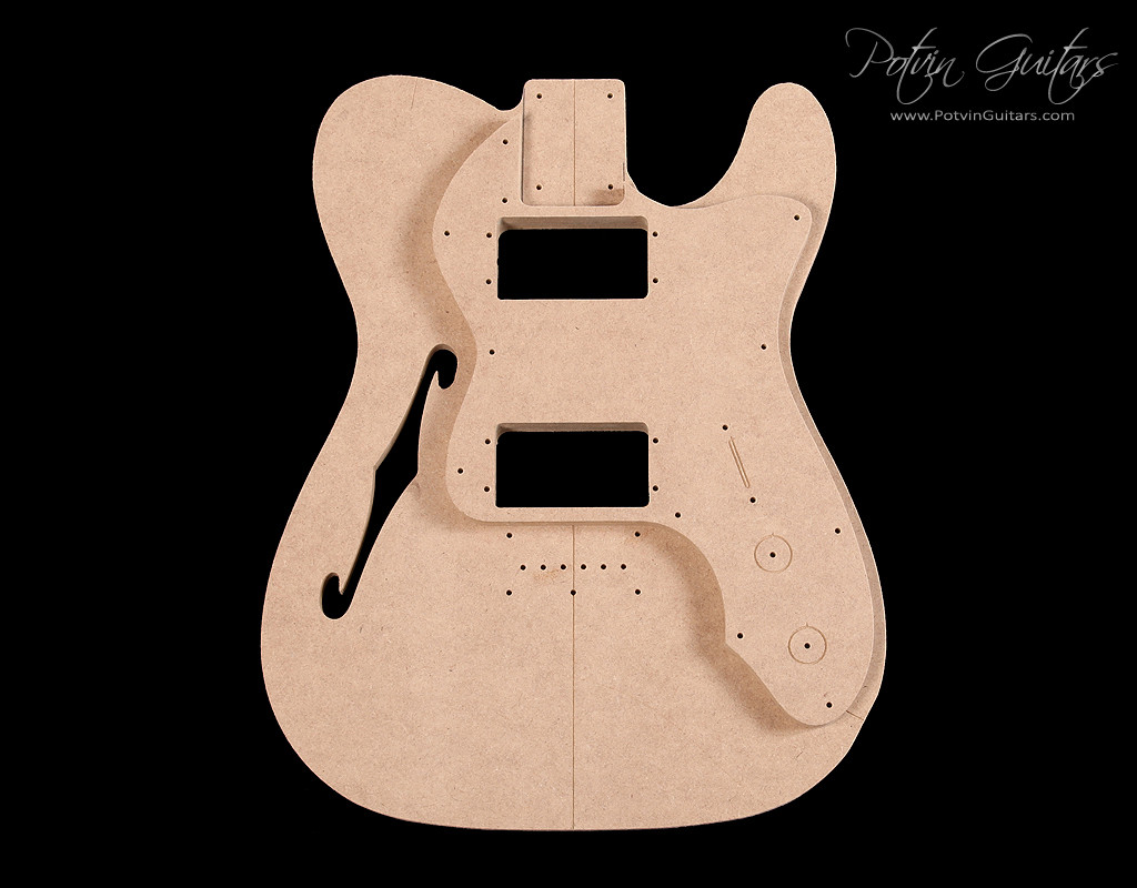 guitar f hole template - t style thinline template set 39 72 style potvin guitars