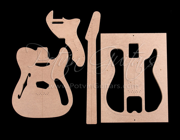 guitar f hole template - t style thinline template set 39 69 style potvin guitars