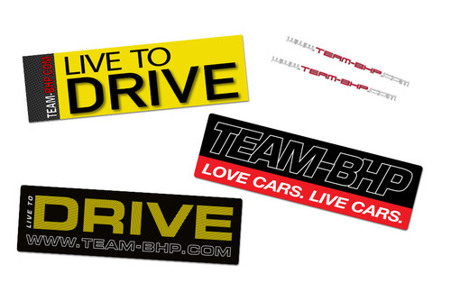 'Live To Drive' Sticker Set (5pcs)
