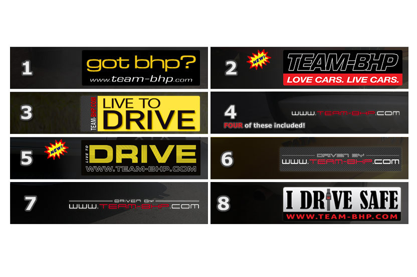 Team Bhp Full Sticker Set 11pcs Team Bhp