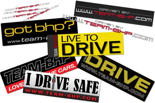 Team-BHP Full Sticker Set (11pcs)