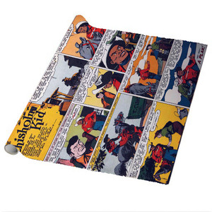 Vintage Black Heroes Wrapping Paper Sheets - The Chisholm Kid - CST6 - Package Of 5