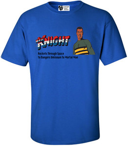 Vintage Black Heroes Men's T-Shirt - Neil Knight - 3 - Royal Blue