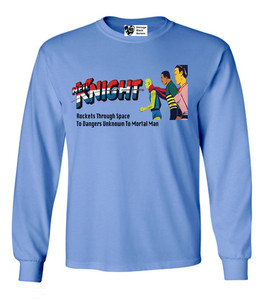 Vintage Black Heroes Men's Long Sleeved T-Shirt - Neil Knight - 1 - Carolina Blue