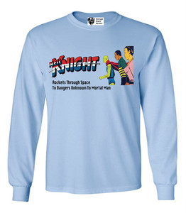 Vintage Black Heroes Men's Long Sleeved T-Shirt - Neil Knight - 1 - Light Blue