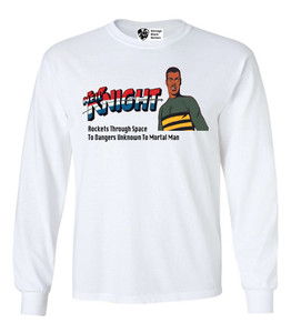 Vintage Black Heroes Men's Long Sleeved T-Shirt - Neil Knight - 3 - White