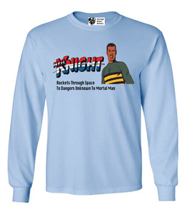 Vintage Black Heroes Men's Long Sleeved T-Shirt - Neil Knight - 3 - Light Blue