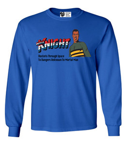 Vintage Black Heroes Men's Long Sleeved T-Shirt - Neil Knight - 3 - Royal Blue