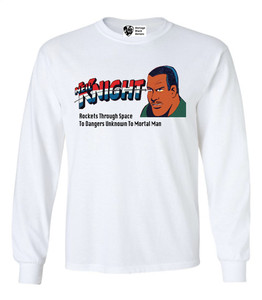 Vintage Black Heroes Men's Long Sleeved T-Shirt - Neil Knight - 4 - White