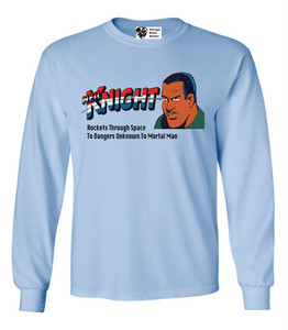 Vintage Black Heroes Men's Long Sleeved T-Shirt - Neil Knight - 4 - Light Blue