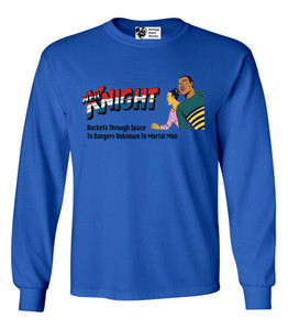 Vintage Black Heroes Men's Long Sleeved T-Shirt - Neil Knight - 5 - Royal Blue