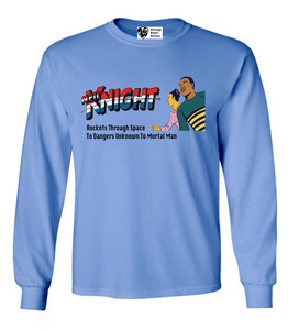 Vintage Black Heroes Men's Long Sleeved T-Shirt - Neil Knight - 5 - Carolina Blue