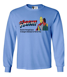 Vintage Black Heroes Men's Long Sleeved T-Shirt - Neil Knight - 6 - Carolina Blue