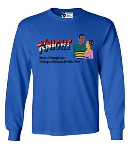 Vintage Black Heroes Men's Long Sleeved T-Shirt - Neil Knight - 7 - Royal Blue