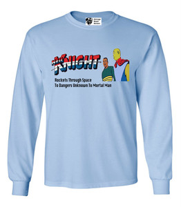 Vintage Black Heroes Men's Long Sleeved T-Shirt - Neil Knight - 8 - Light Blue
