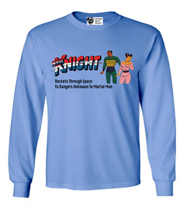 Vintage Black Heroes Men's Long Sleeved T-Shirt - Neil Knight - 9 - Carolina Blue