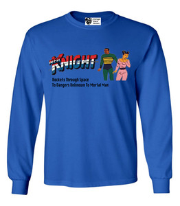 Vintage Black Heroes Men's Long Sleeved T-Shirt - Neil Knight - 9 - Royal Blue