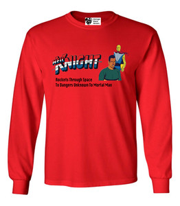 Vintage Black Heroes Men's Long Sleeved T-Shirt - Neil Knight - 10 - Red