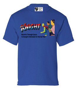 Vintage Black Heroes Boys T-Shirt - Neil Knight - 1 - Royal Blue