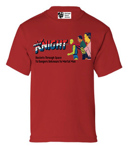 Vintage Black Heroes Boys T-Shirt - Neil Knight - 1 - Red