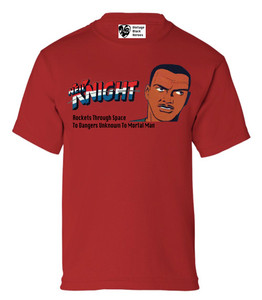 Vintage Black Heroes Boys T-Shirt - Neil Knight - 2 - Red