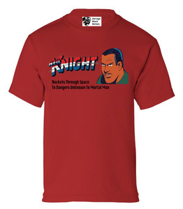 Vintage Black Heroes Boys T-Shirt - Neil Knight - 4 - Red