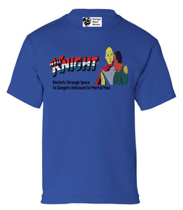 Vintage Black Heroes Boys T-Shirt - Neil Knight - 6 - Royal Blue
