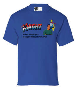 Vintage Black Heroes Boys T-Shirt - Neil Knight - 10 - Royal Blue