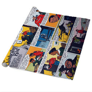 Vintage Black Heroes Wrapping Paper Sheets - The Chisholm Kid - CST2 - Package Of 5