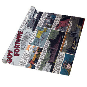 Vintage Black Heroes Wrapping Paper Sheets - Guy Fortune - CST7 - Package Of 5