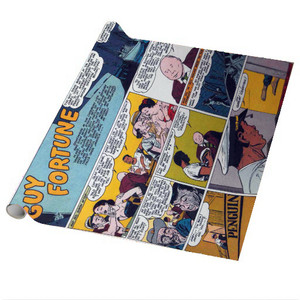 Vintage Black Heroes Wrapping Paper Sheets - Guy Fortune - CST5 - Package Of 5